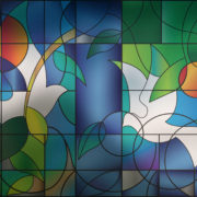 PV05006 Dove Stained Glass