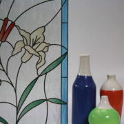 Stained Glass Flowers & CattailsonFeathered