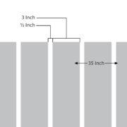 3in Vertical Lines