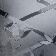 Battleship Grey Cut Glass Bamboo