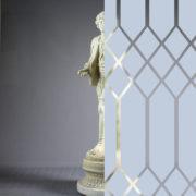 Diamonds Tudor Style Fog Blue