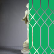 Diamonds Tudor Style Green