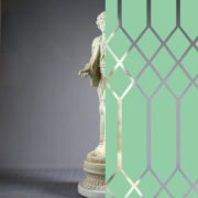 Diamonds Tudor Style Sea Green