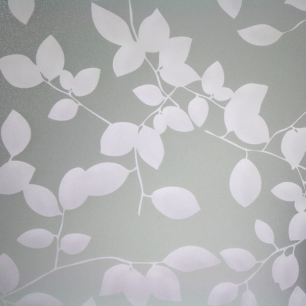 Privacy Leaves Sandblast White