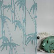 Bamboo Shoots on Gossamer Aqua