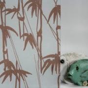 Bamboo Shoots on Gossamer Burnt Orange