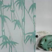 Bamboo Shoots on Gossamer Sea Green