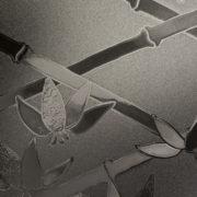 Dark Graphite Cut Glass Bamboo