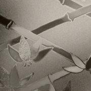 Graphite Cut Glass Bamboo