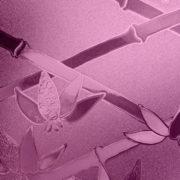 Pink Cut Glass Bamboo
