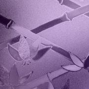 Purple Cut Glass Bamboo