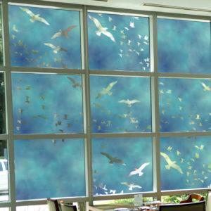 Flock Of Birds Decorative Window Film