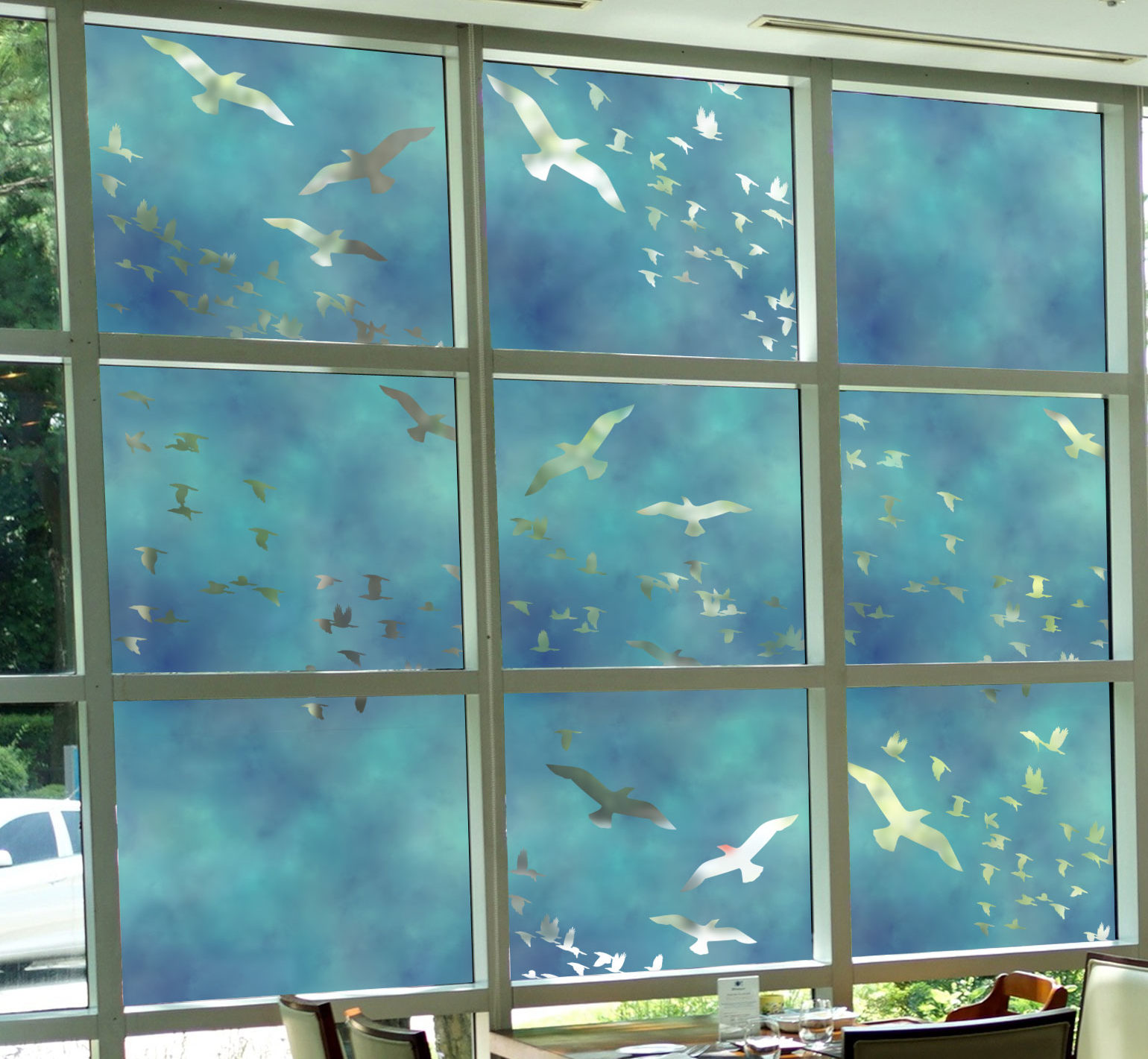 Flock Of Birds Decorative Window Film