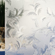 White Frost Cut Glass Leaves
