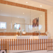 Burnt Orange Stripe Border 8