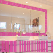 Pink Stripe Border 7